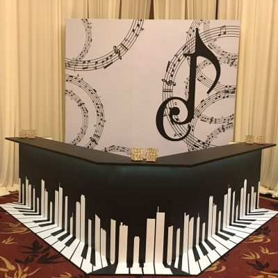 Piano Music Bar Counters & Stalls decorations KL