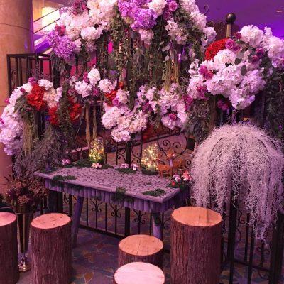 Flowery Dessert Bar decoration for event PJ