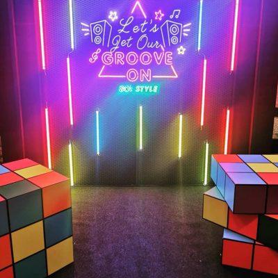 Leon light photobooth design for event kl