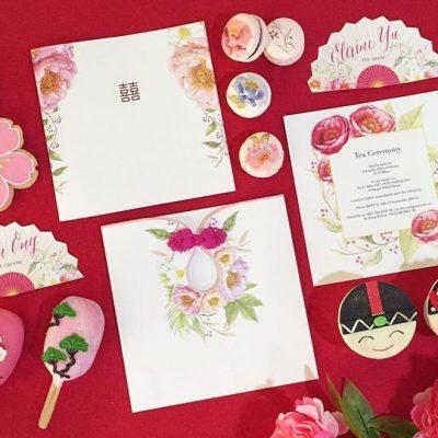 Tea ceremony decorations with dessert theme KL