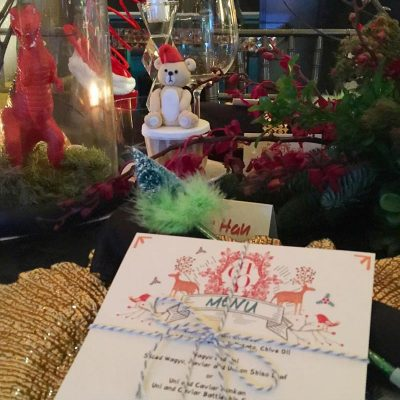table settings with christmas style KL