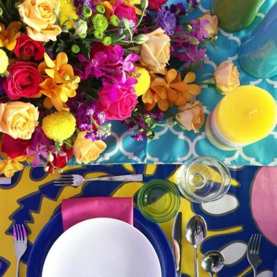 colourful table setting and event decoration KL