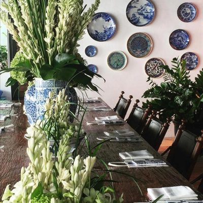 tableware and plants rental for decorations