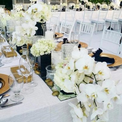 clean romantic white table settings decorations service KL