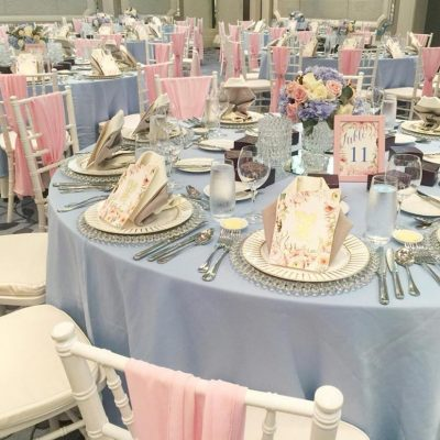 Wedding decorations with table settings KL
