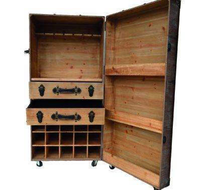 0172_Portable Wooden Bar Storage Chest