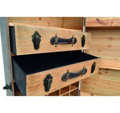 0173_Portable Wooden Bar Storage Chest