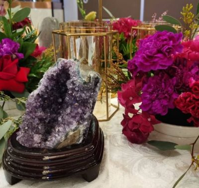 Amethyst with Stand decorations kl