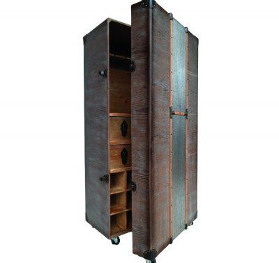 0177_Portable Wooden Bar Storage Chest