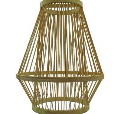 Rattan Cage Ceiling Lamp - decor rental kl