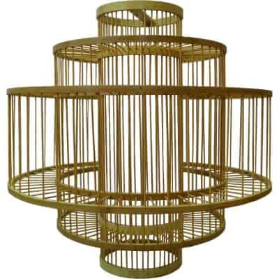 Rattan Ellipse Shaped Ceiling Lamp rental