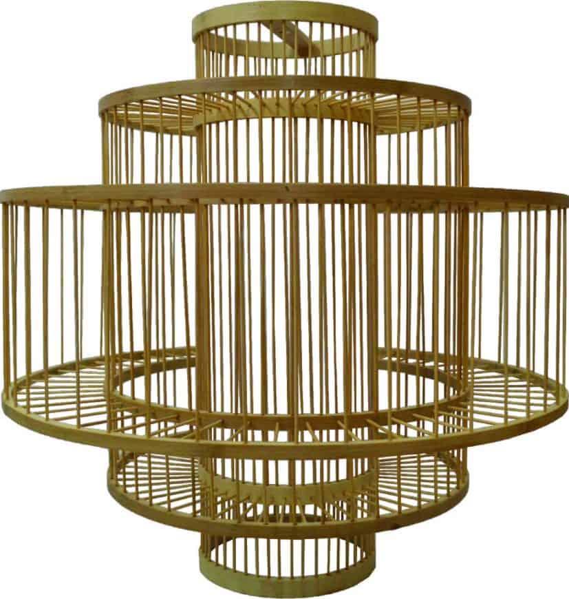 Rattan Ellipse Shaped Ceiling Lamp rental