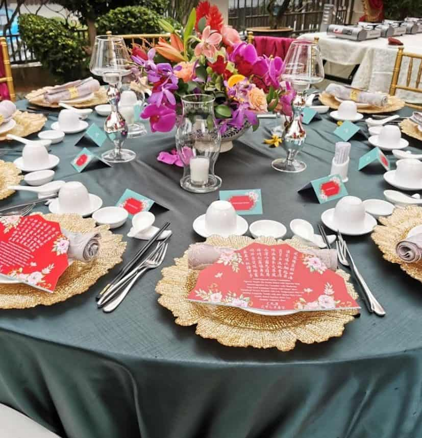 Green Round Table Cloth for wedding